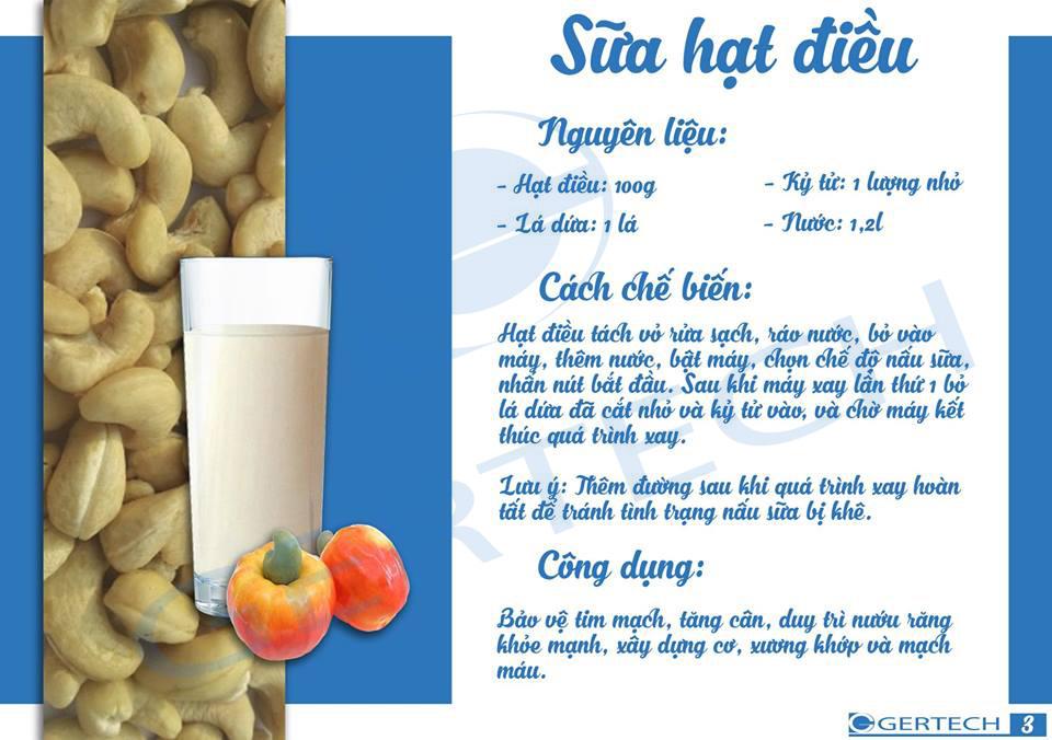 14 công thức sữa hạt và sinh tố 3