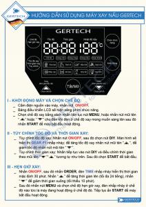 Hướng Dẫn Sử Dụng Máy Xay Nấu 4 Mùa GERTECH GT-002