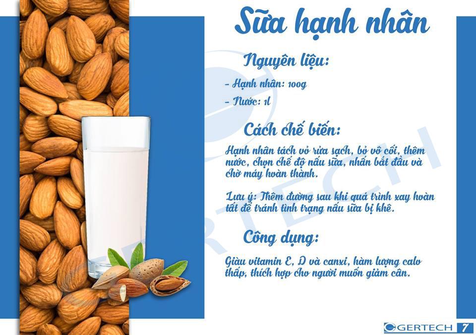 14 công thức sữa hạt và sinh tố 7