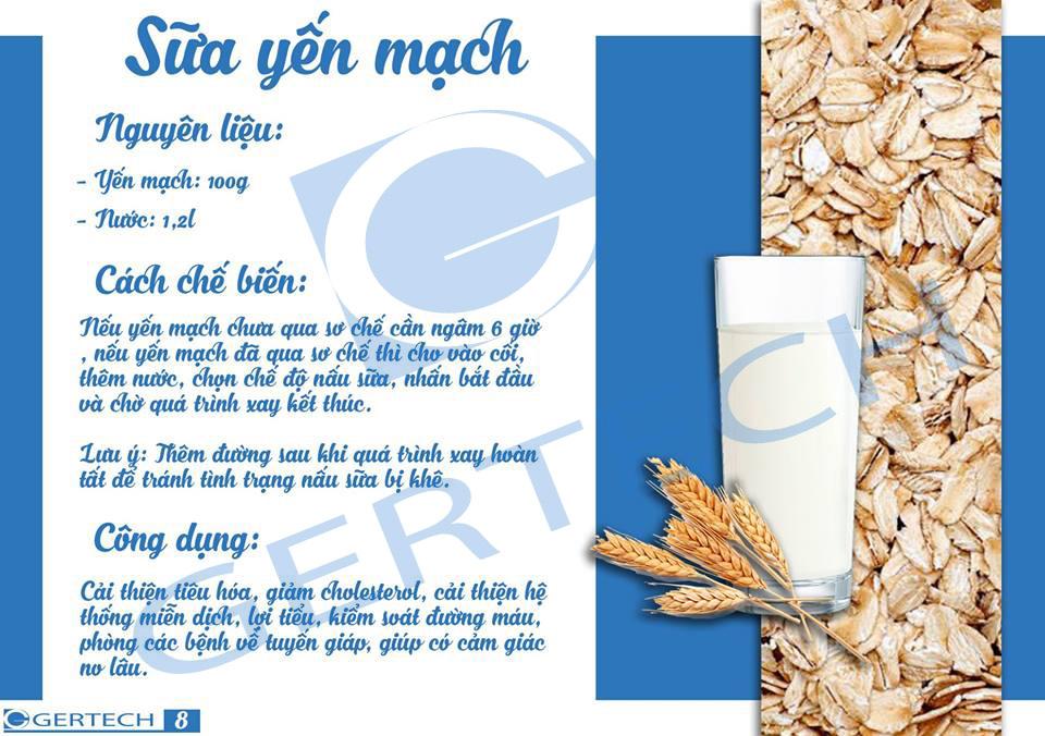 14 công thức sữa hạt và sinh tố 8